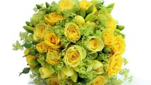 Yellow & Blue Wedding Theme. Summer Wedding Flowers and Wedding Bouquets