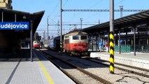 Elektrická lokomotiva 242.211-1. České Budějovice Hlavní Nádraží