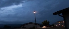 Orage violent 7 juin 2015  Foudre proche ! Close lightning strike !