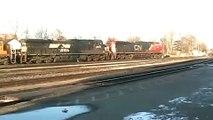 NAFTA Express! CN-NS-UP-TFM-CSX on CN M398 working Brantford
