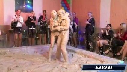"""""""Messy Girls"""" Mud Wrestling"""