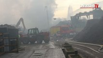 Incendie : impressionnants dégâts dans une usine de l'Oise
