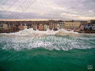 Les Grandes Marées de Saint-Malo Vues du ciel-Drone