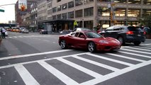 Bentley SuperSport and Ferrari 360 in NYC Driving