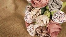 How To Make A Fabric Rose Bouquet