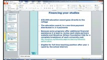 Woodrow Wilson Teaching Fellowship: Financing Your Program