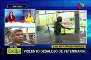 Violento desalojo en veterinaria: denuncian presuntas irregularidades