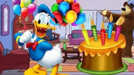 Mickey Mouse Clubhouse Donald Duck Happy Birthday Song