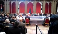 Hollande au Palais universitaire à Strasbourg