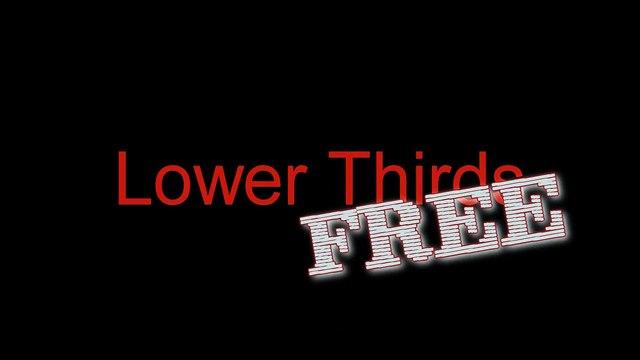 Lower Third Free - Grátis - Pack de lower thirds - Pacote de lower thirds