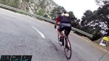 Cycling downhill to port de Sóller, Mallorca april 2014