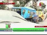 Vehículos y mototaxis invaden frontis de la comisaria de Salamanca