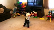 "Aidan dancing to ""singing in the Rain"" Gene Kelly."