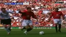 Cristiano Ronaldo Debut for Manchester United (English Commentary) 2003-2004