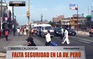 Robos y asaltos en la Av. Perú en San Martin de Porres