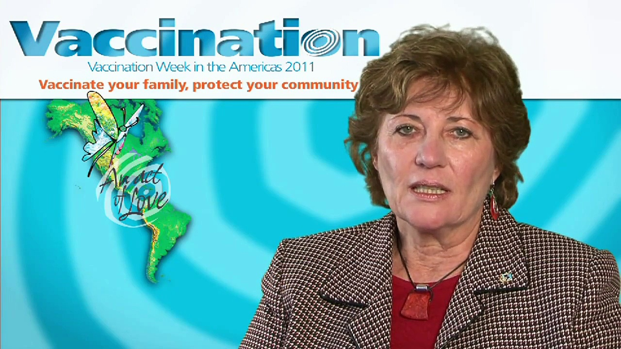 Dr. Mirta Roses, Director of PAHO, Vaccination week in the Americas 2011