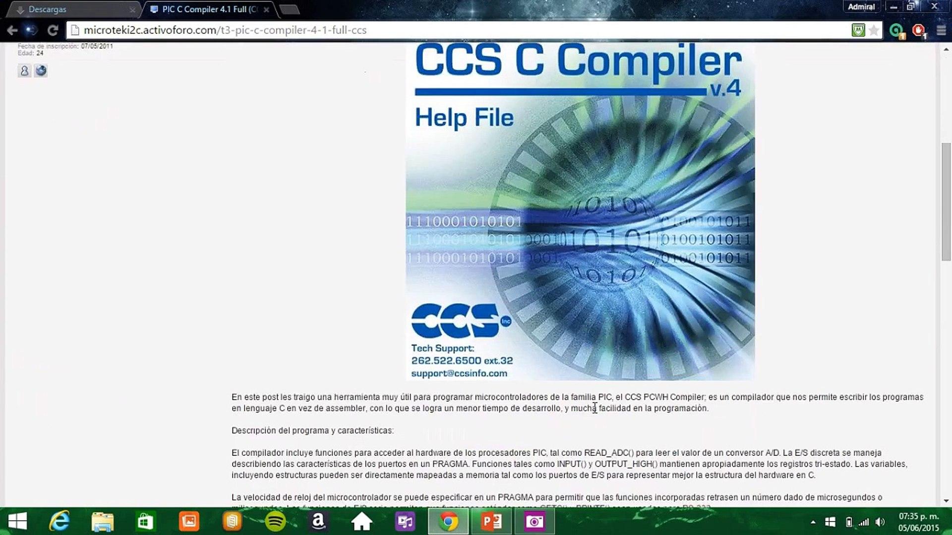 Video Tutorial - Instalar PIC C Compiler 4 1 Full (CCS)
