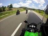 Acidente de moto Kawasaki Ninja - Rod. 262