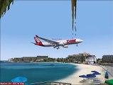 FS2004 Pouso Em St Marteen TNCM Airbus A330 200
