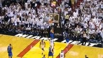 Dwyane Wade Closeup and Chris Bosh Dunk NBA Finals 2011 Game 1