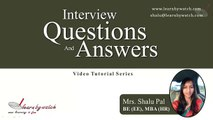 Interview Questions and Answers Series by Shalu Pal   Video 14 English