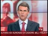 Tg2 e Tg1: Il Presidente Napolitano ad Auronzo per le Dolomiti
