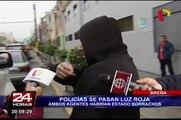 Breña: policías en presunto estado de ebriedad se pasan luz roja y causan accidente