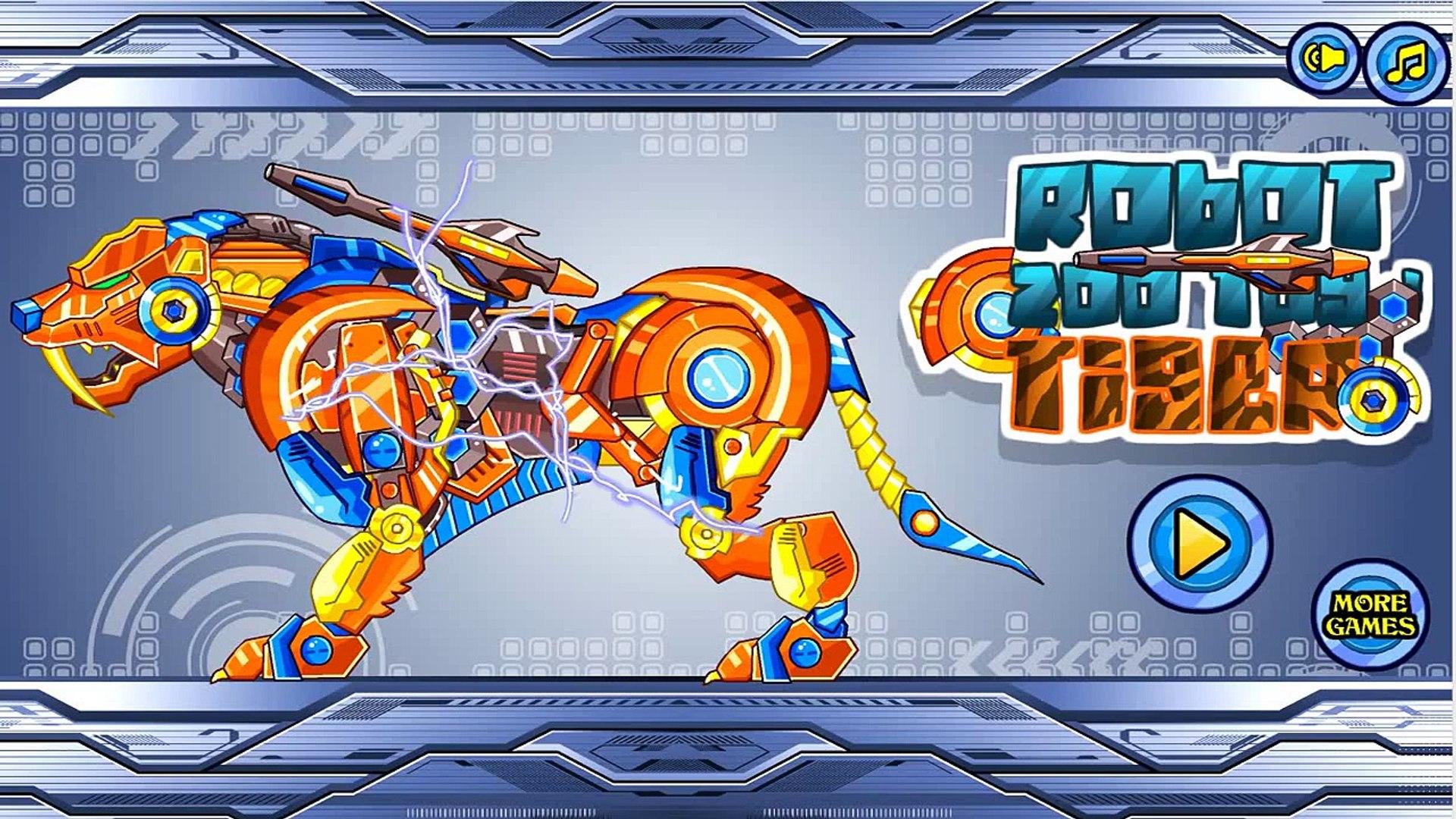 공룡놀이  로봇 호랑이를 수집  Collect robot tiger  Робот Тигр