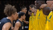 Haka impressionnant de la Nouvelle-Zélande contre l'Australie en Basket