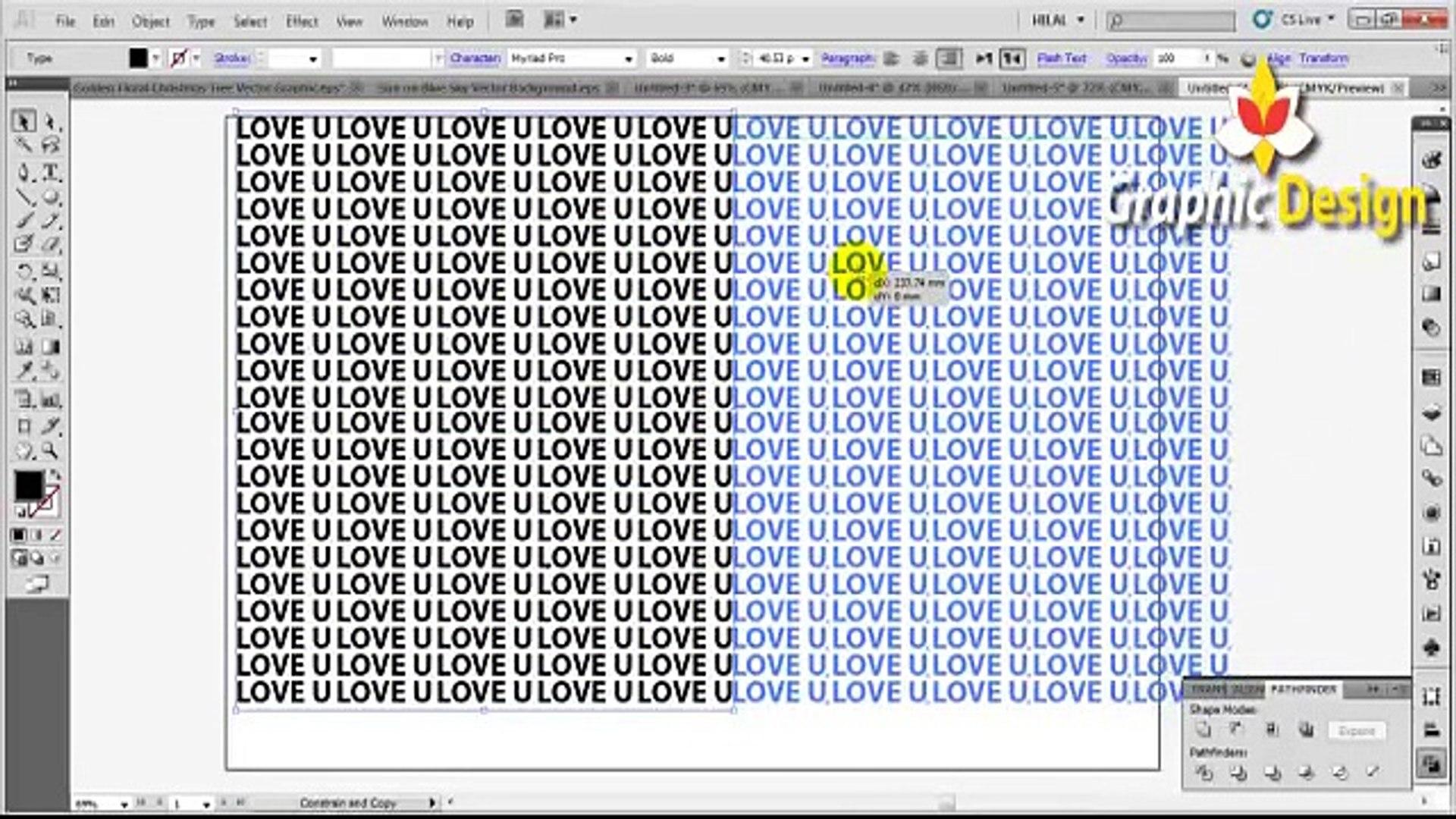 Typography Design Tutorials in Adobe illustrator tutorial