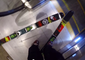 Epic escalator ski drop in a mall !