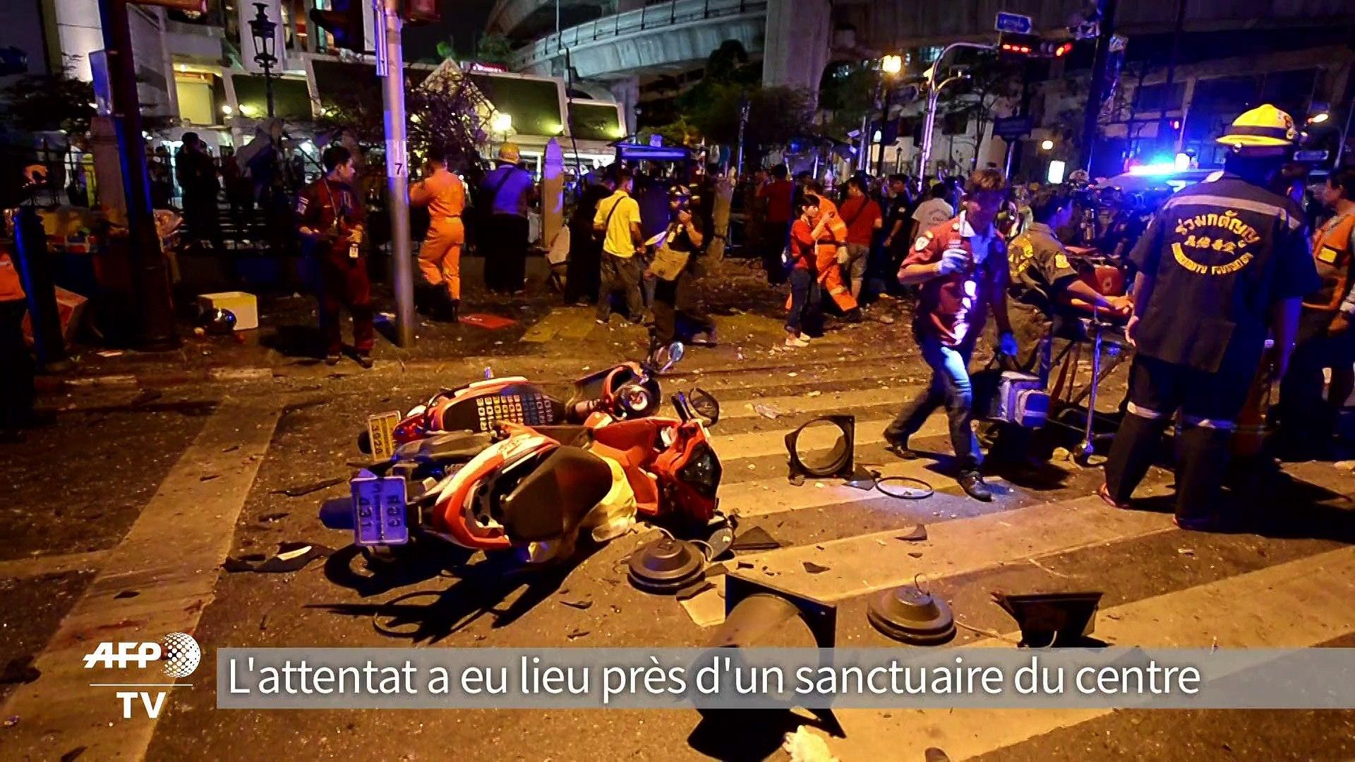 Un attentat fait plusieurs morts en plein coeur de Bangkok, le 17 août 2015.