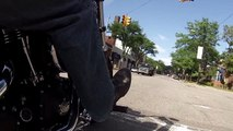 2013 Harley Davidson Street Bob Ride Through Grosse Pointe GoPro Hero3 White Edition [1080p HD]