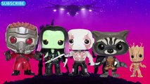 Finger Family Guardians of the Galaxy Funko POP   Daddy Finger Song Guardians of the Galaxy