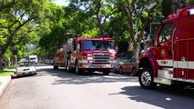 Fire & Police Buffing Action -- Beverly Hills FD, Beverly Hills PD, & LAFD [7-14-15]