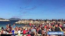 La Patrouille de France au dessus des plages du Mourillon à Toulon