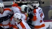 Danny Briere offside goal. Philadelphia Flyers vs Pittsburgh Penguins 4/11/12 NHL Hockey
