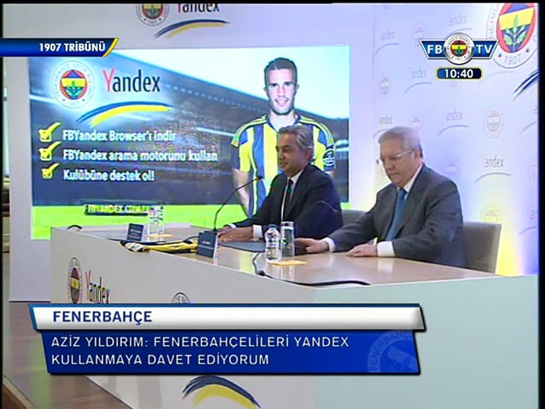 Fenerbahçe & Yandex sponsorluk anlaşması 18.08.2015