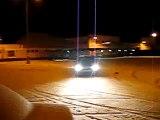 CZECH drifting //  BMW E36 snow drift around column...