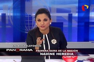"""Nadine Heredia: """"No le atribuyo ninguna seriedad a lo presentado"""""""