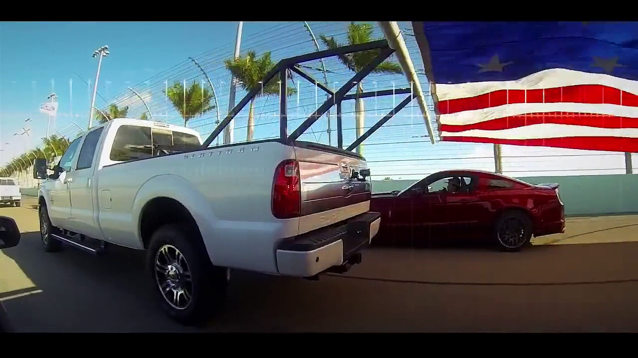 Ford 400 Flag Pull – Powered by Ford Trucks and Ford Mustang