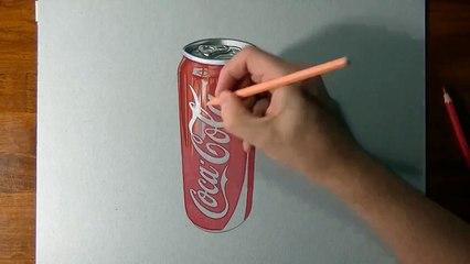 How I draw a Coca Cola slim can