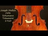 Joseph Malkin - Cello - Träumerei - Schumann - 1910
