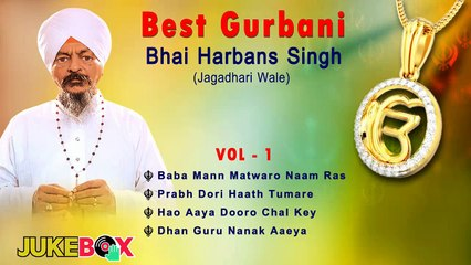 Non Stop Best Shabad Gurbani by Bhai Harbans Singh Ji (Jagadhari Wale)   Jukebox Vol -01