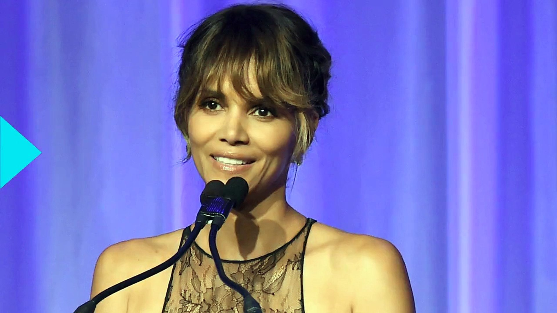 Halle Berry Shows Off Her Insane Body in a Sheer Top