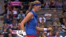 Kvitova vs Lisicki Highlights (Fed Cup 2012)
