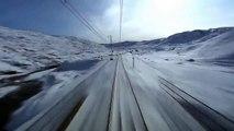 Вид из кабины скоростного поезда