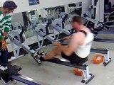 500m Rowing Ergo German Record 1.15,2 min KRASS von Jens Raab