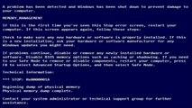 Reparar pantalla azul (Memory management)