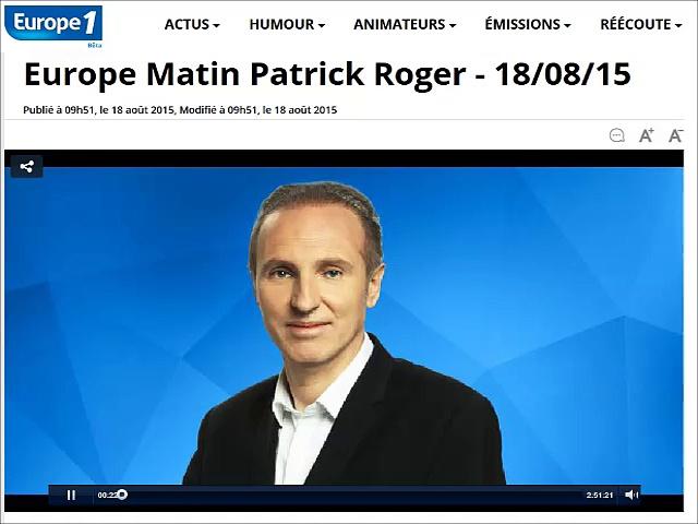 18.08.15 – Europe 1 Matin – Journal des Sports